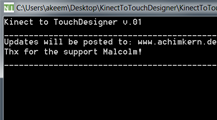 Kinect support for TouchDesigner